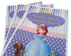 Livro de Colorir c/ Giz - Princesa Sofia