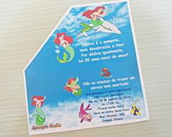 Convite Ibiza Anivers�rio Pequena Sereia