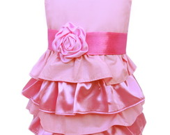 Vestido Rosa de Babados