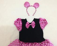 Fantasia da Minnie Pink com Tiara