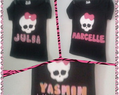 Camisa Monster High Patch Apliqu�