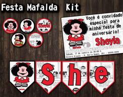 Mafalda Kit Festa Convite Tags Flags