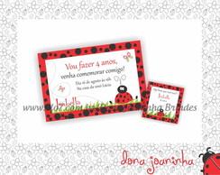 Arte digital Convite + Tag Joaninha