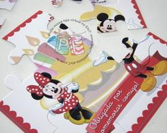 Quebra-cabe�a 18x18 Minnie e Mickey