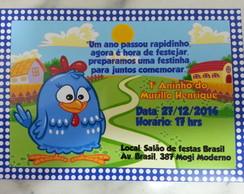Convite Galinha pintadinha(V�rios temas)