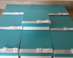 Caixa para lembrancinha azul tiffany