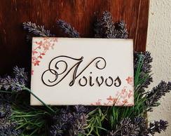 Mini placa para mesa dos Noivos II