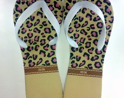 Chinelo On�a Flat Personalizado