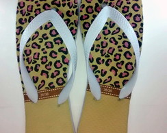 Chinelo On�a Rasteirinha Personalizado