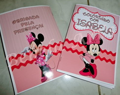 Revista para colorir Minnie Rosa