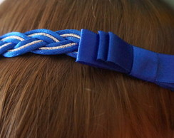 Fiaxa/headband PRINCESA azul royal