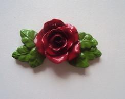 Rosa com folhas arabesco (colorida)