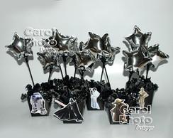 Cachepot com Bolas metalizadas star wars