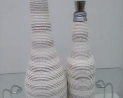 Duo de garrafas decorativas