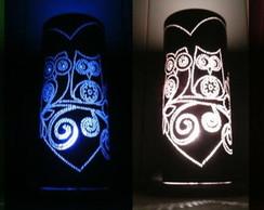 Lumin�ria em PVC Corujas / Corujinhas