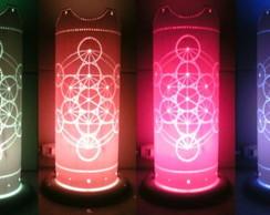 Lumin�ria Em PVC Mandala Personaliz�vel