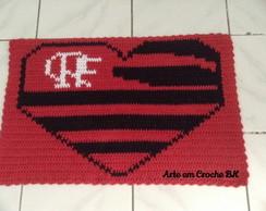 Tapete Croche Flamengo Cora��o