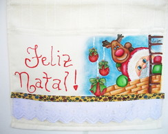Toalha De Lavabo Feliz Natal
