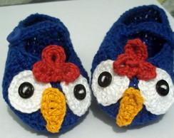 Sapatilha galinha pintadinha em croch�