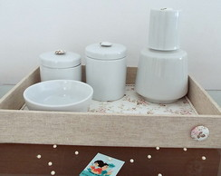 Kit Porcelana Linho & Floral Off White