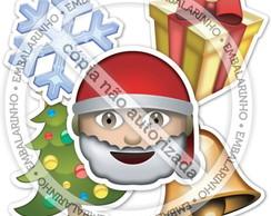 10 Placas Emoji de Natal FRETE GR�TIS
