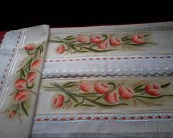 Jogo de toalha de banho pintado