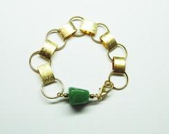 Pulseira Pedra Verde - Frete Gr�tis