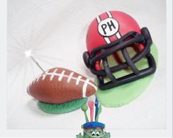 Topo Futebol americano capacete e bola