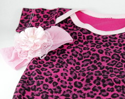 Kit Baby - Body Oncinha Rosa Pink