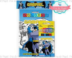 Kit Colorir Pocket - Batman