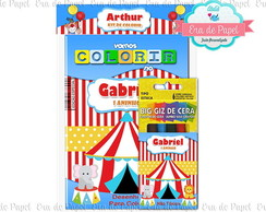Kit Colorir Pocket - Circo