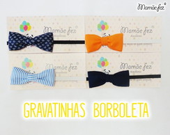 Kit Gravatas Borboletas Beb� 4 Pe�as