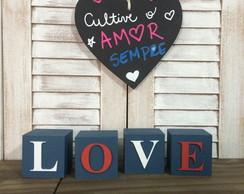 LOVE Cubos Decor - navy