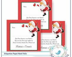 24 Etiquetas Papai Noel Feliz
