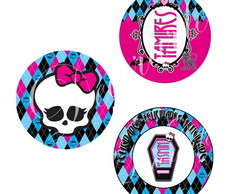 R�tulo Mint To Be 4,5cm Monster High
