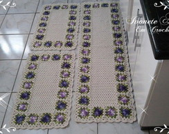 Jogo de cozinha flor rasteira