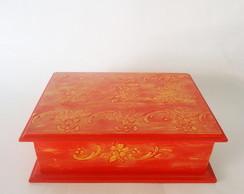 Caixa Organizadora vermelha com textura!