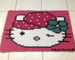 Tapete Croch� Personagem Hello Kitty