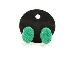 Brinco Verde Caviar - Chaton Oval M