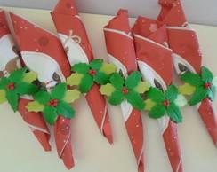 Porta guardanapo folhagem natal