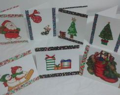 Cart�es de Natal decorados artesanais