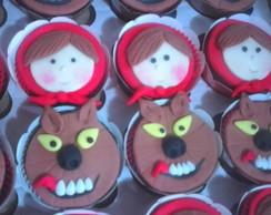 Cupcake Chap�uzinho vermelho e lobo mau