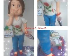 Boneca com sacolinha de compras