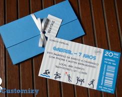 Convite - Ticket