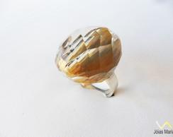 Anel de Cristal em prata 950,
