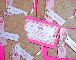 Convite Envelope Kraft Floral