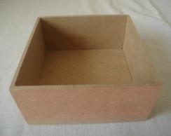 caixa em mdf cru 20x20x5