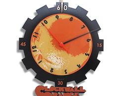 Rel�gio de Parede Laranja Clock