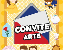Convite (Arte) - A Bela e a Fera Mini