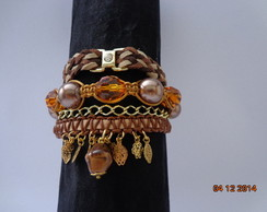 Kit Pulseira Marron